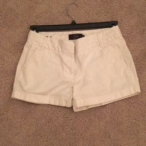 J Crew White Summer Shorts